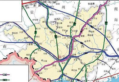 广州高铁到贵港地图