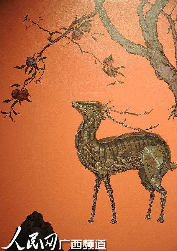 鹿彩色手绘
