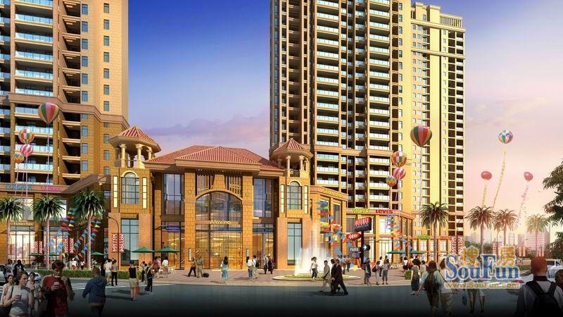 总建筑面积71430平米,其中住宅310套,商务写字楼230套,配套商业8860