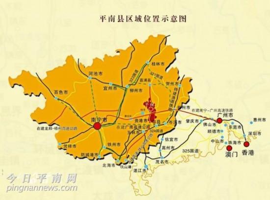 广西乡级公路地图