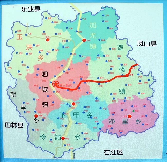 广西地图平面图