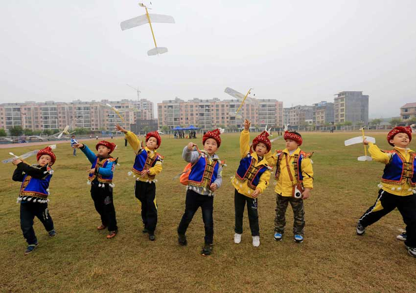 青少年桂北赛航模