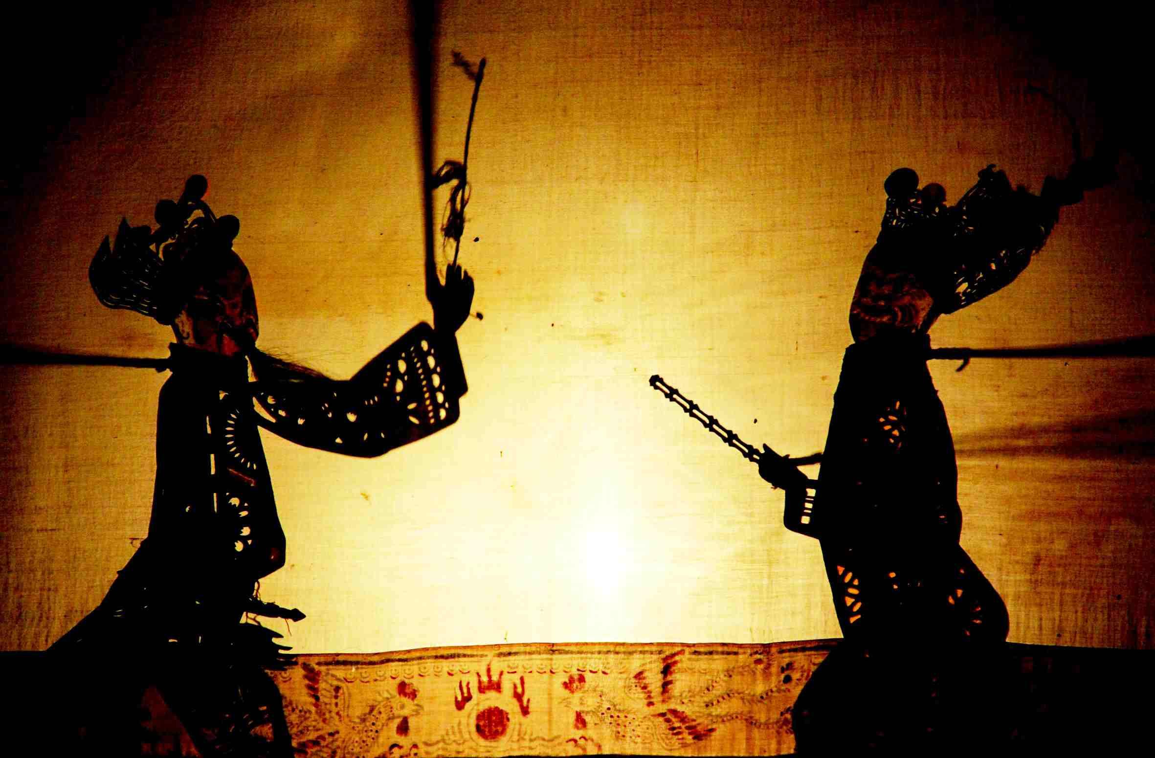 中国传统花纹戏剧剪影