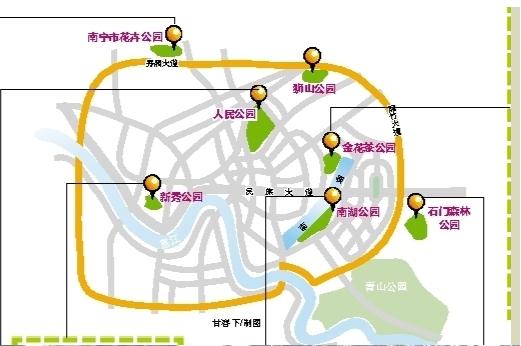 南宁赏花地图