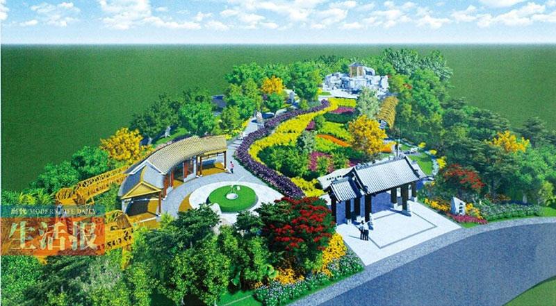 高清:第六届广西园博园城市展园设计主题 元素多