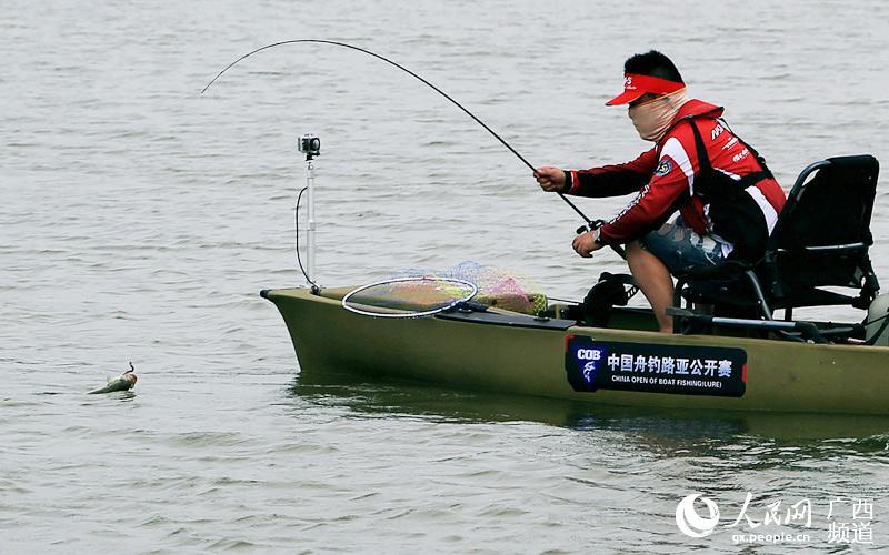 中国舟钓路亚公开赛举行 钓鱼高手云集广西横