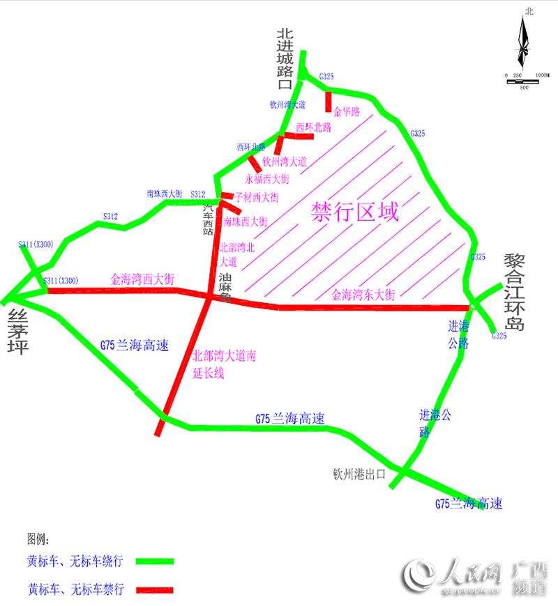 广西北海湾地图