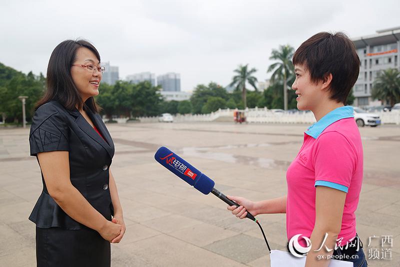 广西平果县副县长莫丁汀接受人民网专访