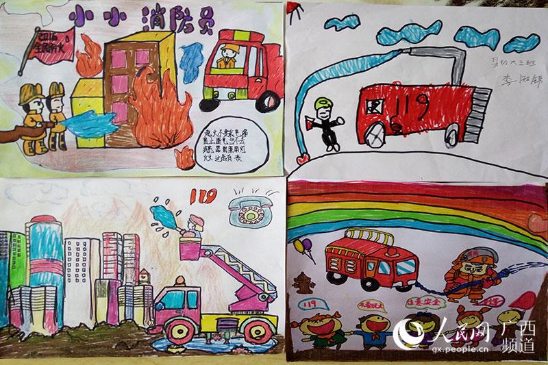 儿童消防竞赛绘画作品