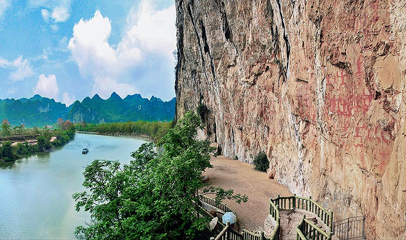 广西宁明街景和风景
