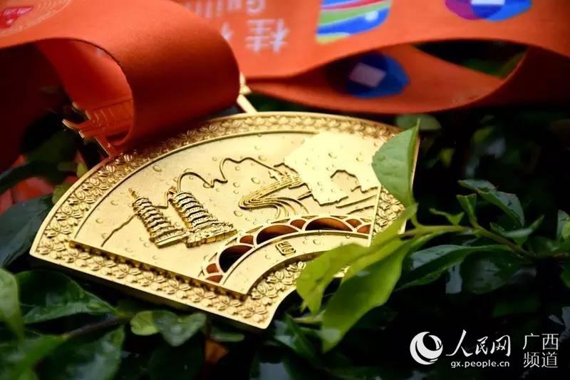 完赛奖牌设计糅合了桂林特色元素