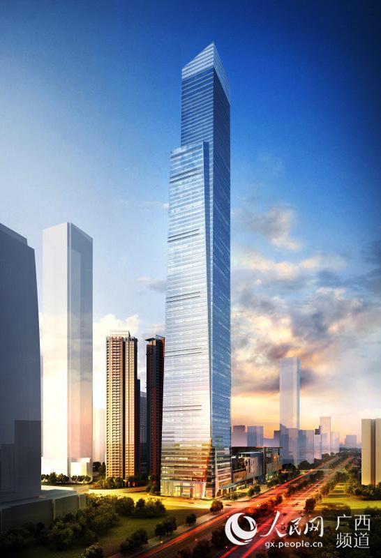 广西北部湾第一高楼——南宁华润东大楼效果图