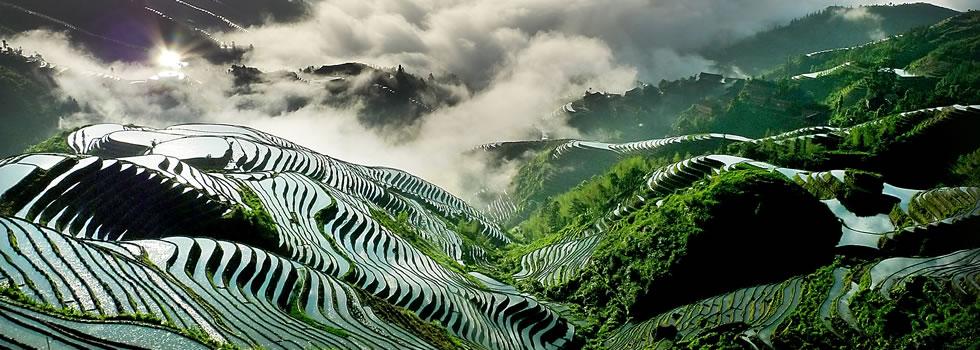 金坑梯田:挂在天边的风景