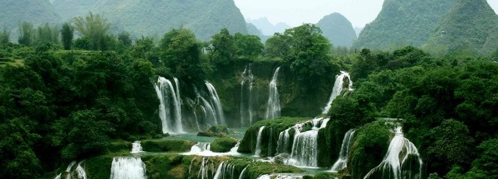 德天瀑布:亚洲第一,跨国、田园、人家