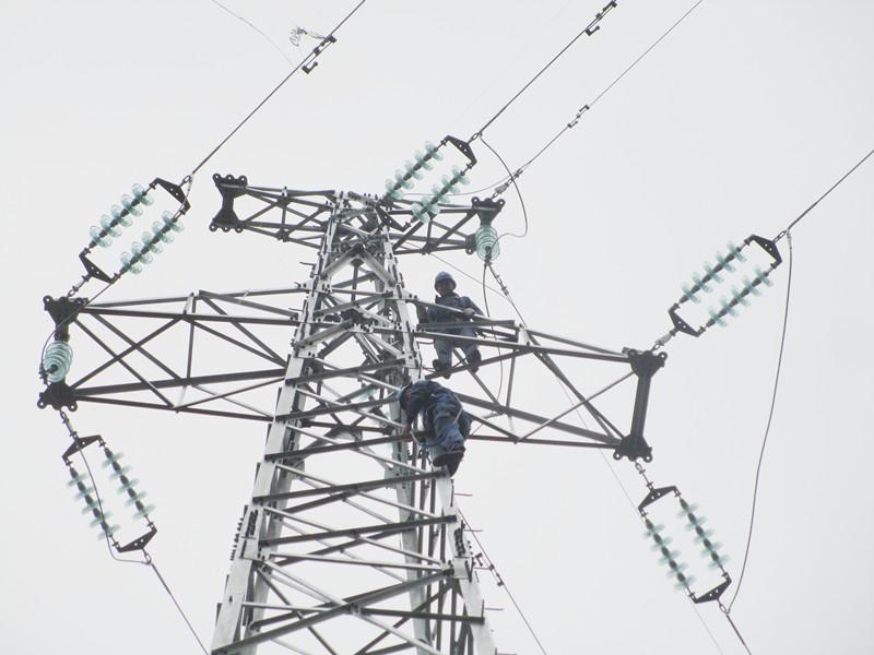 对在建的35千伏革步送变电工程线路的部分杆塔基础,导线架设进行了