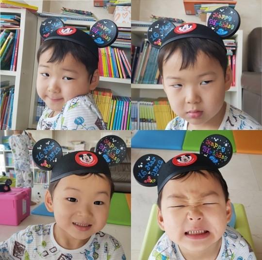 娱乐星闻    人民网7月10日讯 韩国演员宋一国爱子宋民国再出四连拍