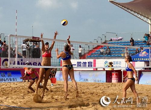 2017年世界沙滩排球巡回赛钦州公开赛开战