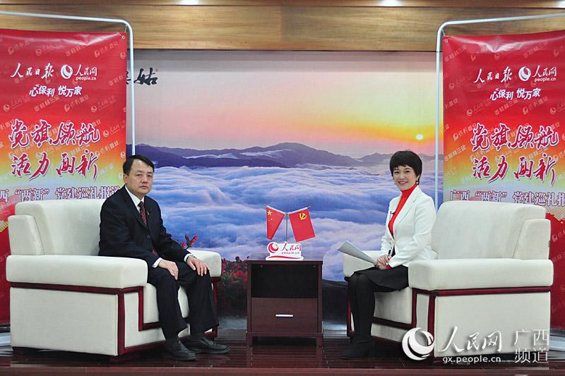 贺州市富川县委常委、组织部长罗向前接受人民网专访