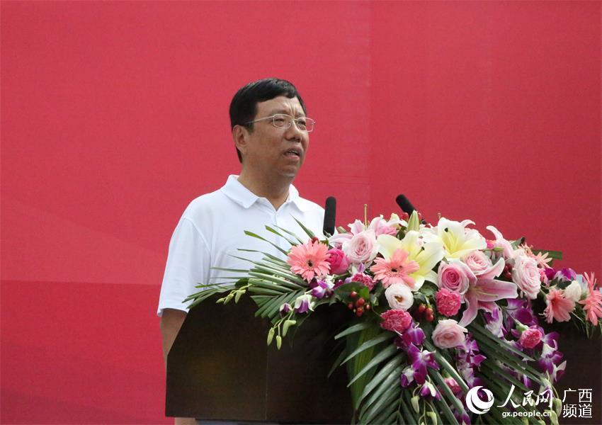 桂林市委书记赵乐秦宣布项目开工