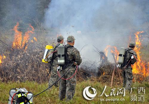 2018年广西森林防灭火竞赛实战演练在崇左举行