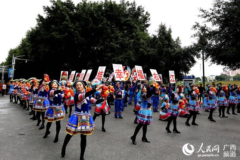 广西百色举办民族文化巡展喜迎自治区成立60周年