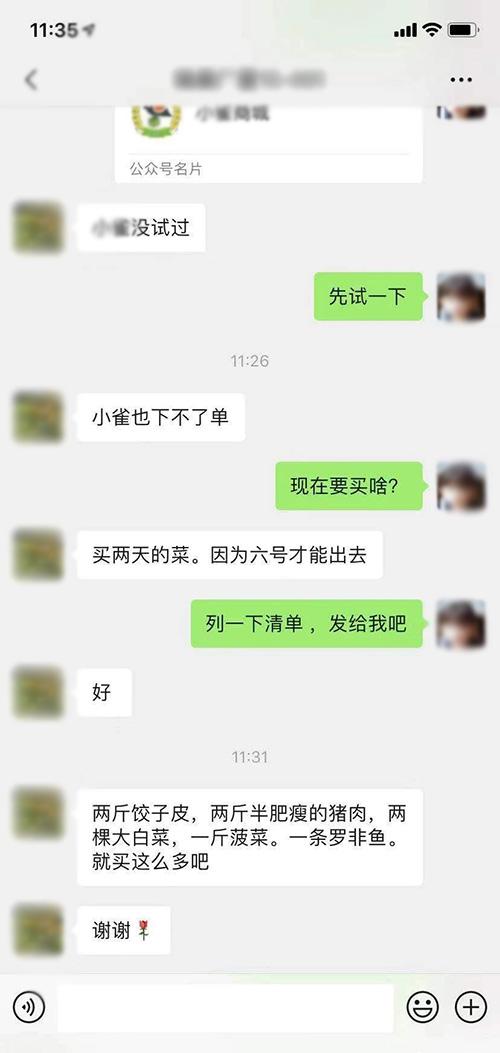 吴丹与杨大姐的聊天记录。(手机截图)