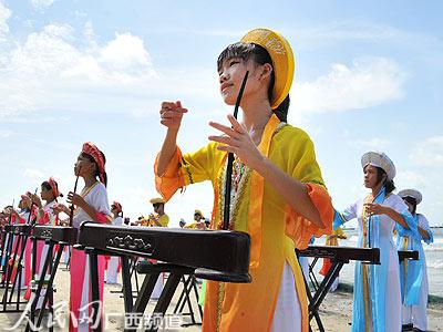 于7月20日至26日在广西防城港市东兴京岛名胜旅游风景区举行的京族哈