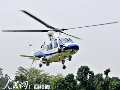 南宁第一架警用直升机首飞成功